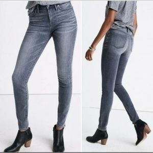 {MADEWELL} Skinny Jeans in Gray Shaw Wash 28